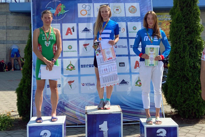 Minsk Triathlon won eight medals at Belarus championship